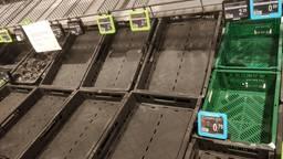 Lege schappen bij de groente-afdeling (Foto: Omroep Brabant).