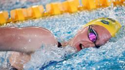 Maud van der Meer stopt met topzwemmen (foto: ANP)