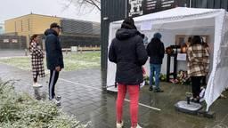 Sportvrienden van Melissa van Roosmalen maken gedenkplek (foto: Jan Peels)