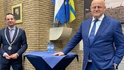 Burgemeester Adriaansen en minister Grapperhaus.