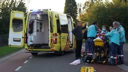 De man is naar het ziekenhuis gebracht (foto: SQ Vision).