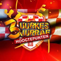 Hoogtepunten van 3 Uurkes Vurraf vanuit Hotel Pullman Eindhoven Cocagne. Volledige coronaproof. Het publiek is er digitaal bij vanuit hun eigen huiskamer. Genieten van de allerbeste carnavalsartiesten, die worden ontvangen door presentator Jordy Graat.