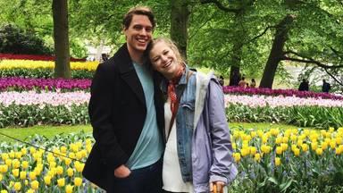 Sam van Raaij en zijn Amerikaanse vriendin Devin.