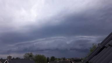 Een onweersbui in Rijsbergen (archieffoto: Anja Bastiaansen).
