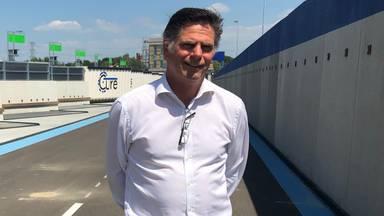 Directeur Frans van Strijp is zeer tevreden over de nieuwe milieustraat in Eindhoven.
