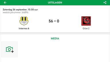 De foute uitslag verscheen op voetbal.nl