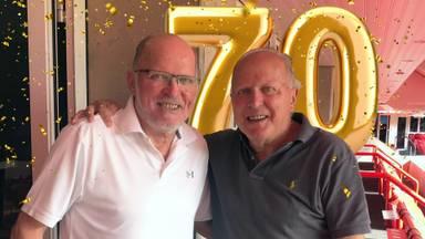 Felicitaties voor Willy en Rene van de Kerkhof die 70 zijn geworden