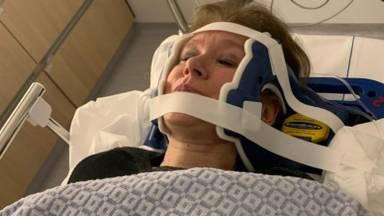 Colinda brak een borstwervel en liep een whiplash op (privéfoto).