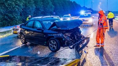 auto crasht bij achtervolging