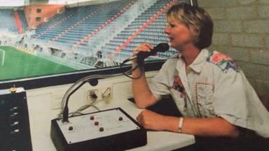 Annie van Hooijdonk, omroepster van NAC in 1996.