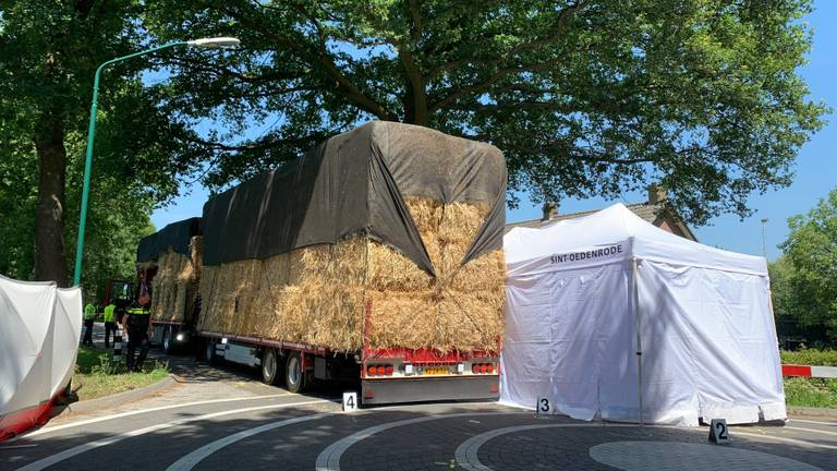 Het meisje remde, kwam ten val en schoof onder de banden van de vrachtwagen (foto: Bart Meesters/ SQ Vison).