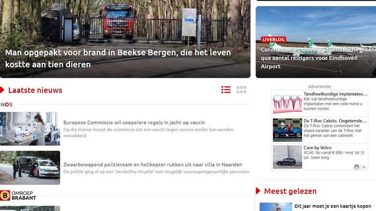 NOS op de site van Omroep Brabant