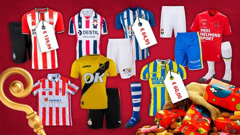 Voetbalshirts kosten Sinterklaas veel geld