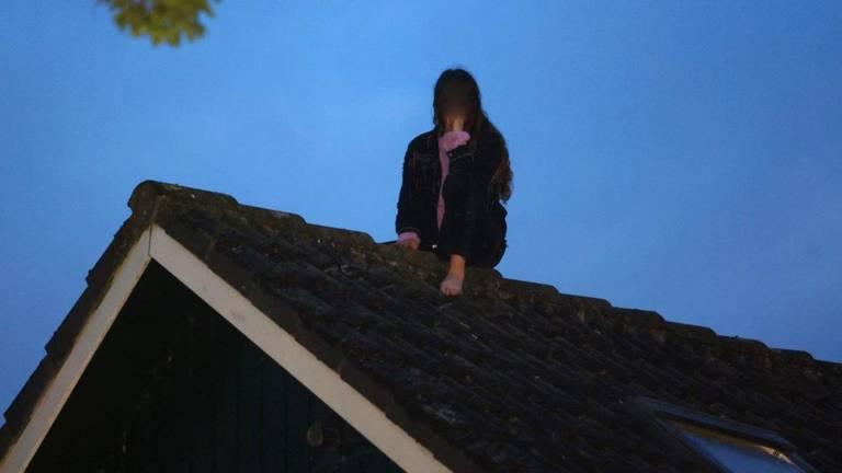 Vrouw durft niet meer naar beneden na ongelukkige klimactie (foto: Bart Meesters / SQ Vision).