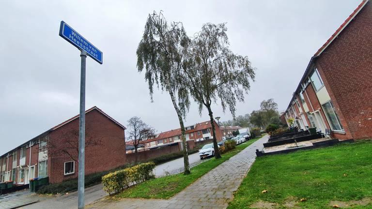 De Willem van Heesstraat waar de baby gewond raakte door vuurwerk. (foto: Collin Beijk)