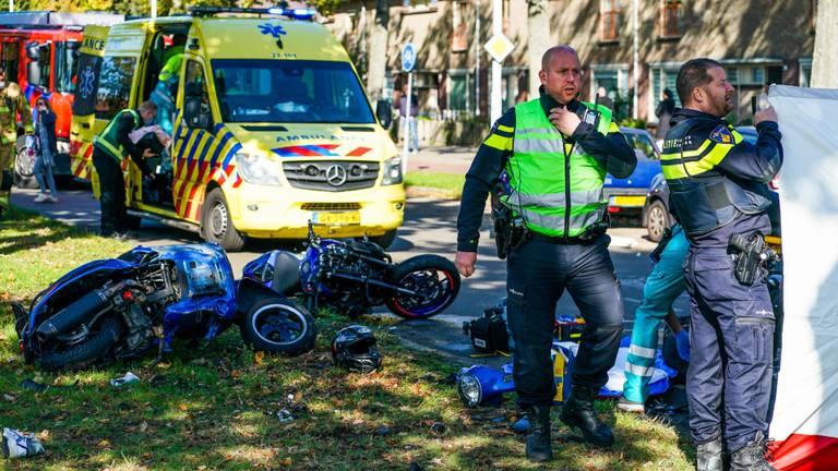 Het ongeluk in Eindhoven gebeurde rond halfeen zondagmiddag (foto: Dave Hendriks/SQ Vision).