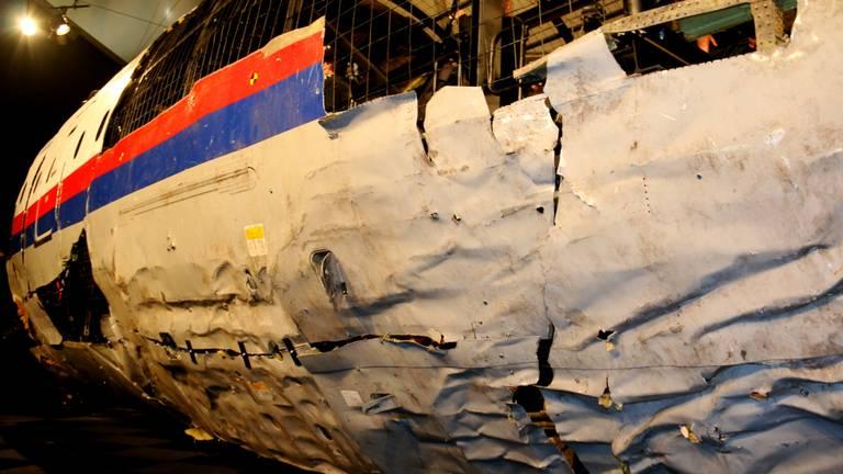 De reconstructie van de MH17 op vliegbasis Gilze-Rijen