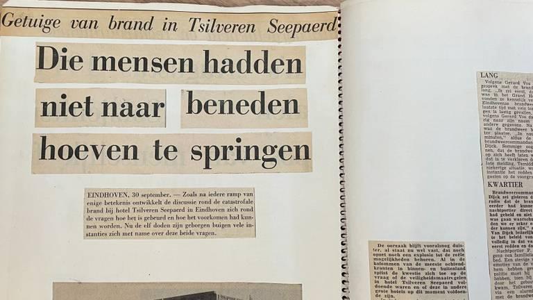 Krantenknipsel uit die tijd