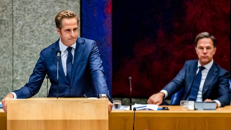 De Jonge en Rutte lagen onder vuur in het debat (foto: ANP).