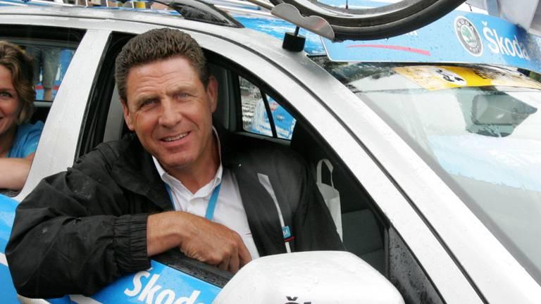 Gerry van Gerwen in zijn tijd als teammanager van ProTour-wielerploeg Team Milram (foto: ANP).