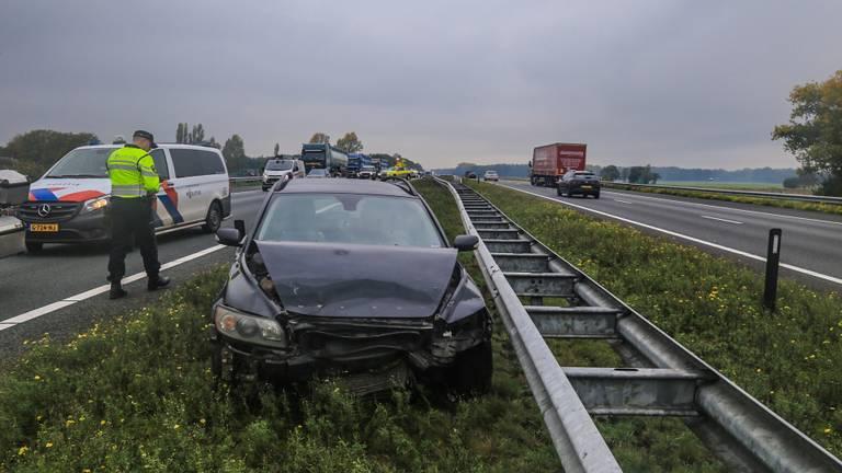 Het ongeluk gebeurde op de A67 in de buurt van Asten (foto: Harrie Grijseels/SQ Vision).