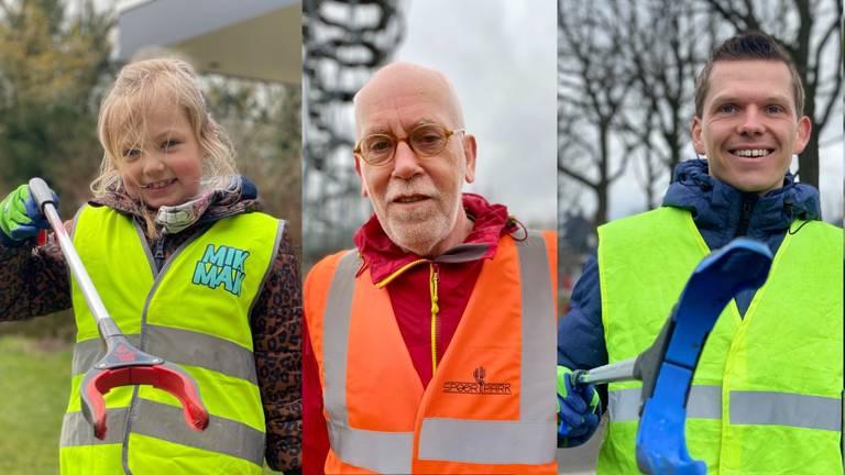 Jong en oud helpt mee Brabant schoon te maken (foto's: Jan Peels)
