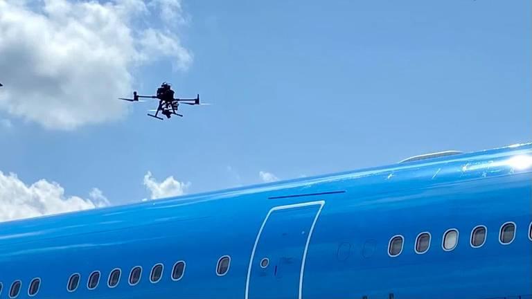 Voor het eerst in Europa wordt de drone-inspectie in de buitenlucht gedaan (foto: Erik Peeters).