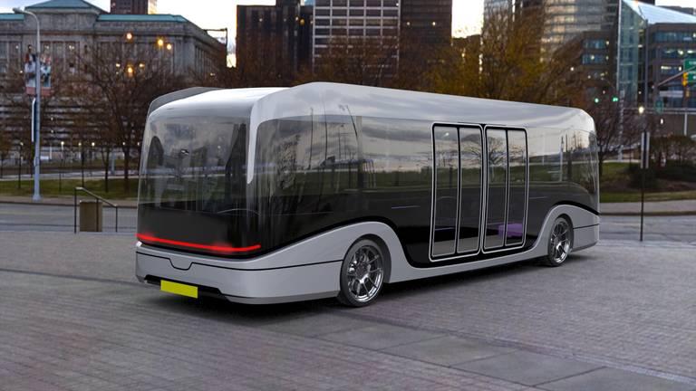 De hypermoderne bus moet over een kleine tien jaar door het oosten van de provincie rijden (foto: gemeente Eindhoven).
