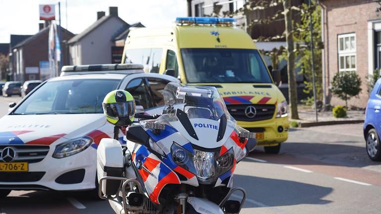 Na het ongeluk in Dongen werden meerdere hulpdiensten opgeroepen (foto: Jeroen Stuve/SQ Vision).