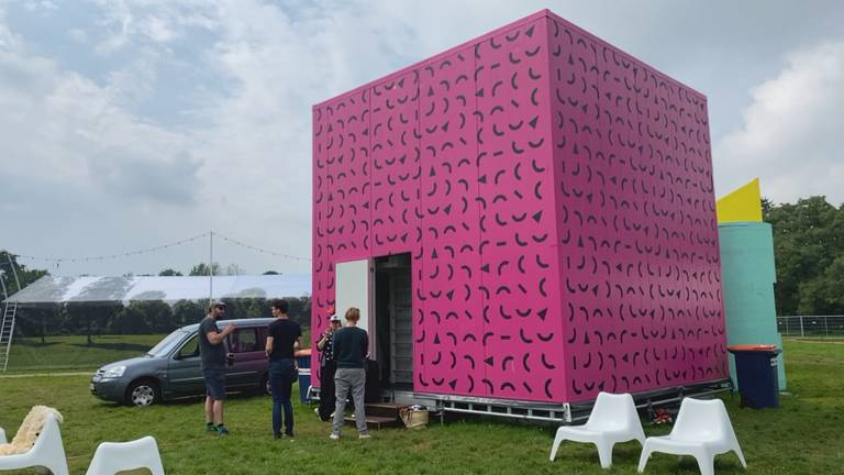 Kubus met installatie van Schippers en van Gught (foto: Jan Peels)