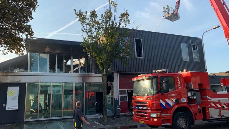 Een beeld van de schade die de brand heeft aangericht (foto: Eva de Schipper).