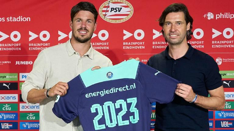 Marco van Ginkel (l) en John de Jong (foto: PSV).