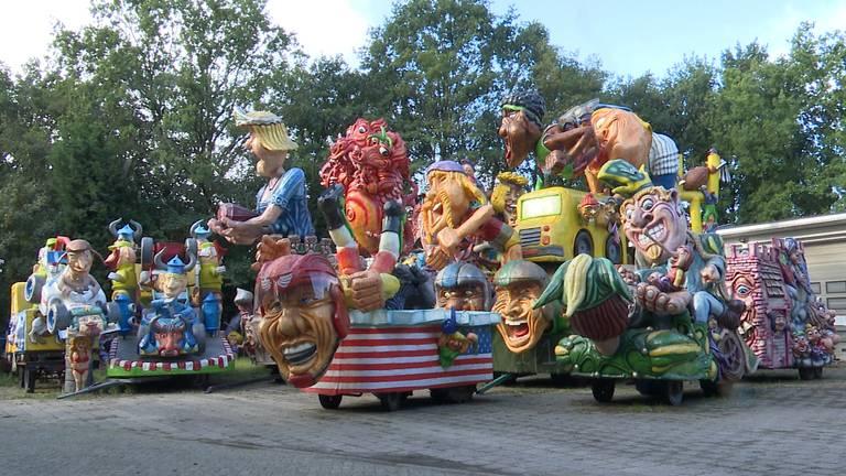 In Ossendrecht staan verschillende wagens van vorig jaar nog altijd te koop (foto: Raymond Merkx).