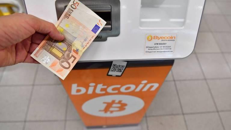 Een bitcoinautomaat van Byecoin uit Oud Gastel.
