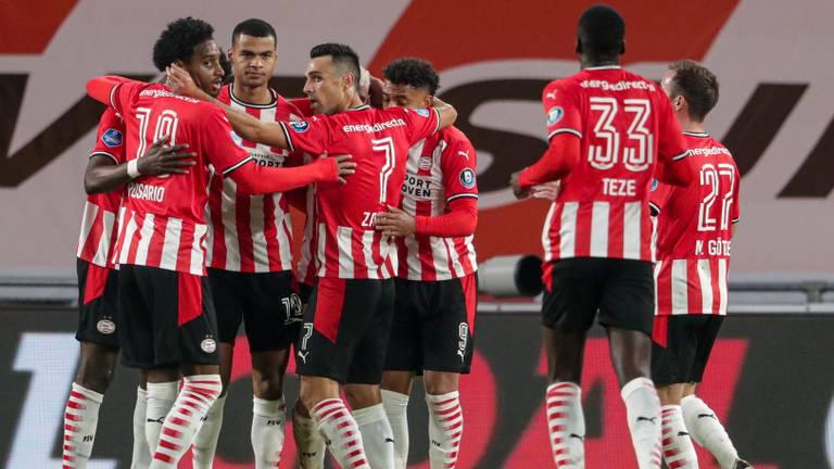 Vreugde bij PSV (foto: Orange Pictures).