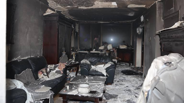De grootste schade was binnen (foto: Bart Meesters).