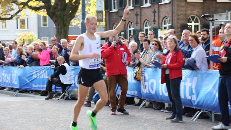 Björn Koreman uit Geertruidenberg tijdens de marathon Eindhoven.
