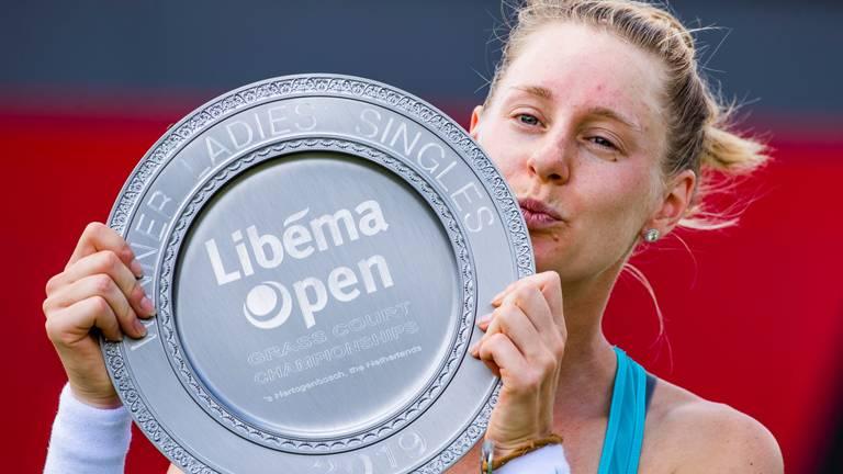 De Amerikaanse Alison Riske de laatste winnares in 2019 van het grastoernooi van Rosmalen (foto: ANP).