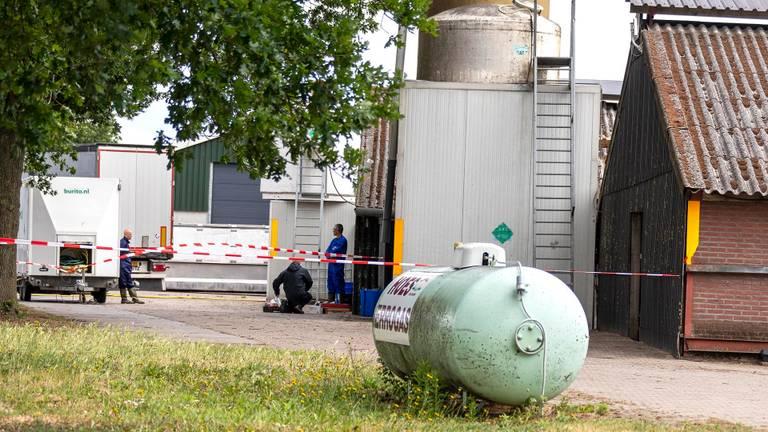 Ruiming van een nertsenfarm in Landhorst (foto: SK-Media)