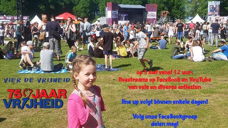 De aankondiging van het online bevrijdingsfeest (foto: Martijn van Bebber).
