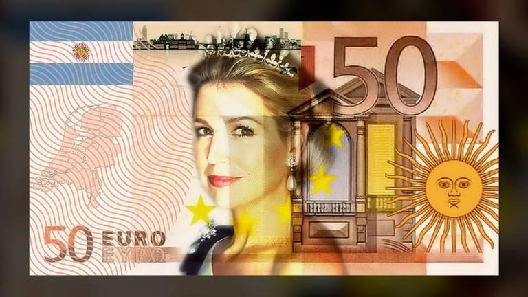 Het 50 eurobiljet met Máxima.