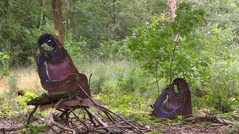 In de bossen bij Wintelre zijn in totaal twintig kunstwerken te bewonderen.