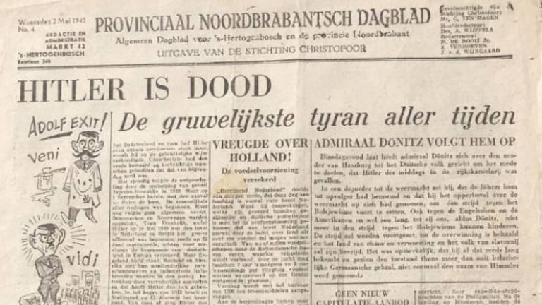 De aankondiging van de dood van Hitler (Foto: Jan de Wit).