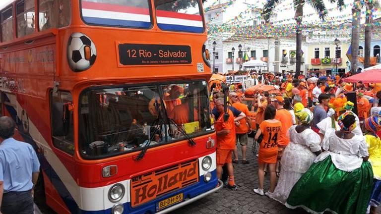 Het WK in Zuid-Afrika in 2010 (foto: Oranjefans.nl).