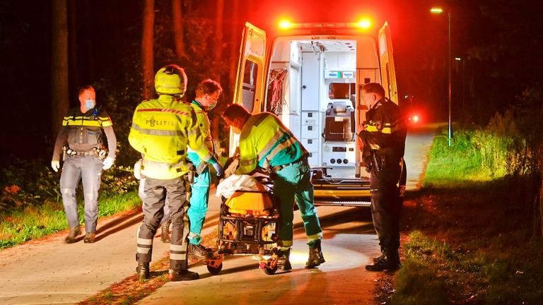 De automobilist werd slapend gevonden op een fietspad tussen Riethoven en Bergeijk (foto: Rico Vogels/SQ Vision).