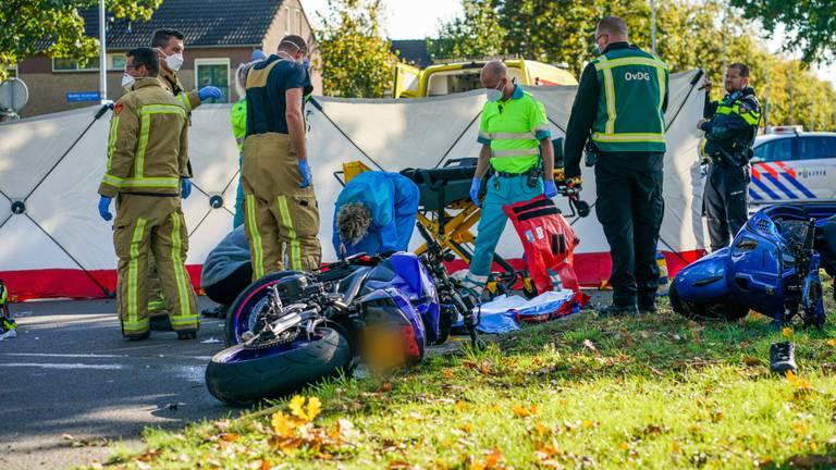 Hoe het ongeluk in Eindhoven kon gebeuren, wordt onderzocht (foto: Dave Hendriks/SQ Vision).