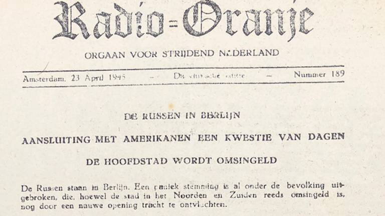 De verzetskrant van 23 april 1945.
