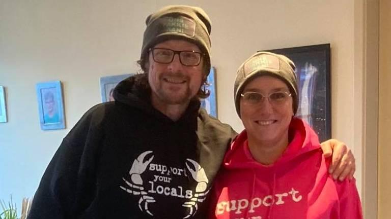 Kelly Kloosterman en zijn vrouw Ingrid.