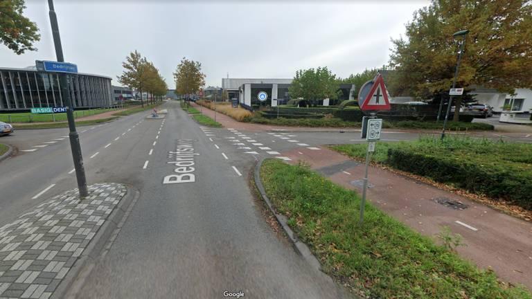 Bedrijfsweg in Oisterwijk (beeld: GoogleMaps)
