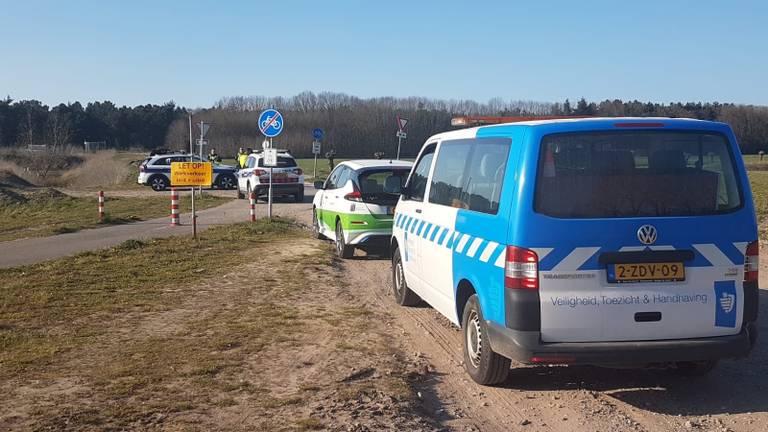 Een dag eerder rukte de politie ook al uit voor een groep crossers (foto: gemeente Halderberge).